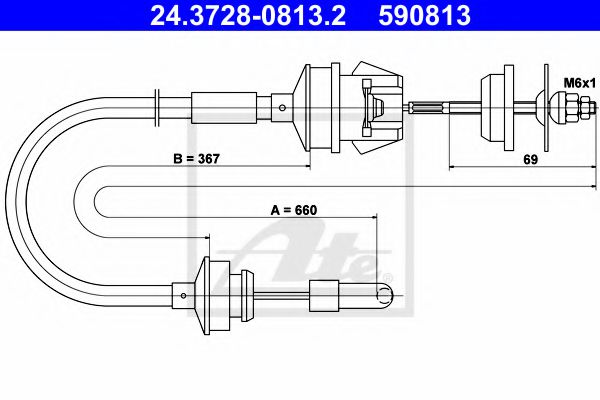 24.3728-0813.2 Clutch Clutch Cable