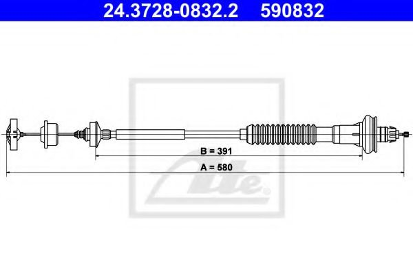 24.3728-0832.2 Clutch Clutch Cable