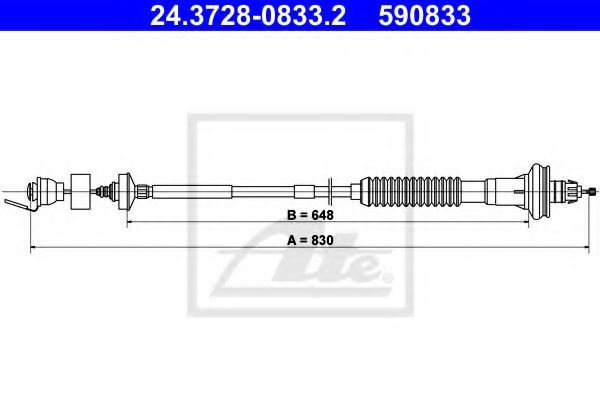 24.3728-0833.2 Clutch Clutch Cable