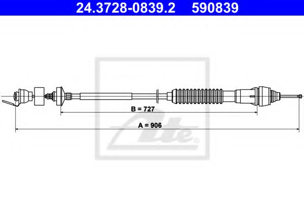24.3728-0839.2 Clutch Clutch Cable