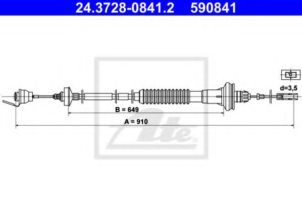 24.3728-0841.2 Clutch Clutch Cable