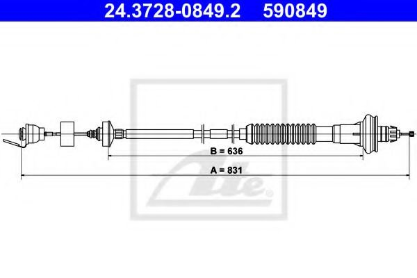 24.3728-0849.2 Clutch Clutch Cable