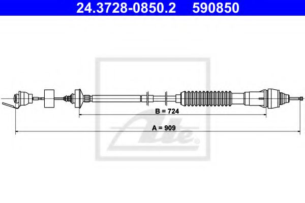 24.3728-0850.2 Clutch Clutch Cable