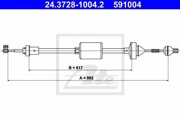 24.3728-1004.2 Clutch Clutch Cable
