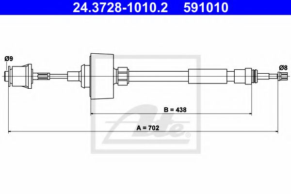 24.3728-1010.2 Clutch Clutch Cable