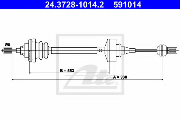 24.3728-1014.2 Clutch Clutch Cable