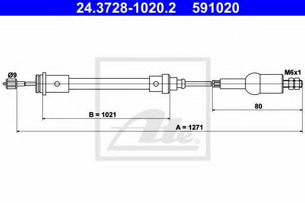 24.3728-1020.2 Clutch Clutch Cable
