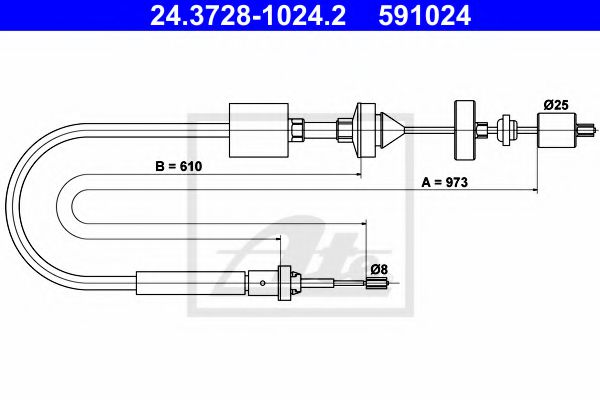 24.3728-1024.2 Clutch Clutch Cable