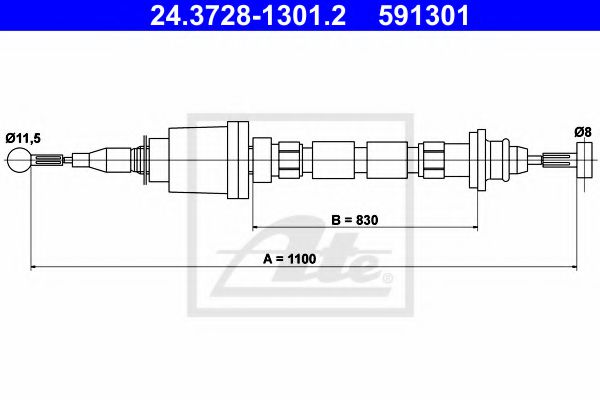 24.3728-1301.2 Clutch Clutch Cable