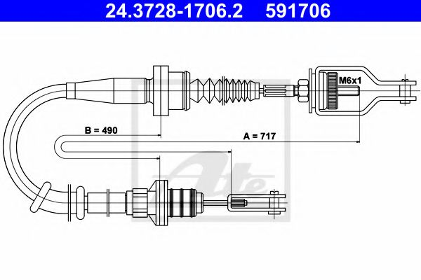 24.3728-1706.2 Clutch Cable