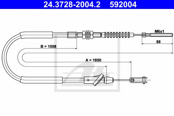 24.3728-2004.2 Clutch Clutch Cable