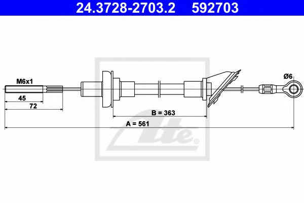 24.3728-2703.2 Clutch Clutch Cable