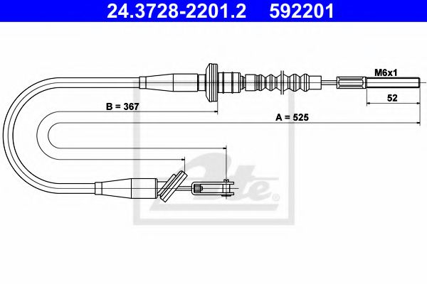 24.3728-2201.2 Clutch Clutch Cable