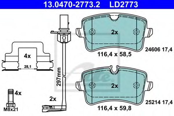 13.0470-2773.2 Brake System Brake Pad Set, disc brake