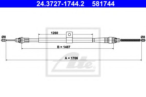 24.3727-1744.2 Cable, parking brake