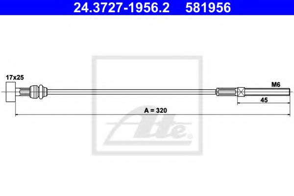 24.3727-1956.2 Cable, parking brake