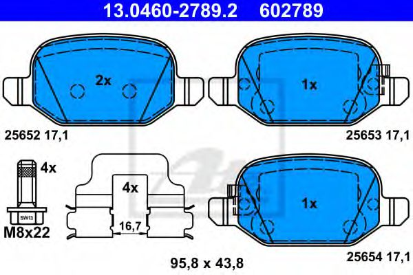 13.0460-2789.2 Brake System Brake Pad Set, disc brake