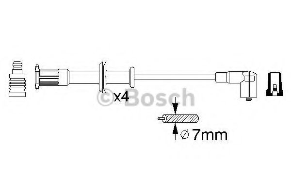 0 356 912 829 Ignition System Ignition Cable Kit