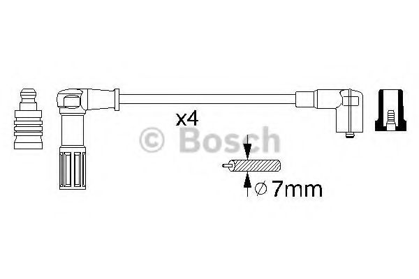 0 356 912 845 Ignition System Ignition Cable Kit