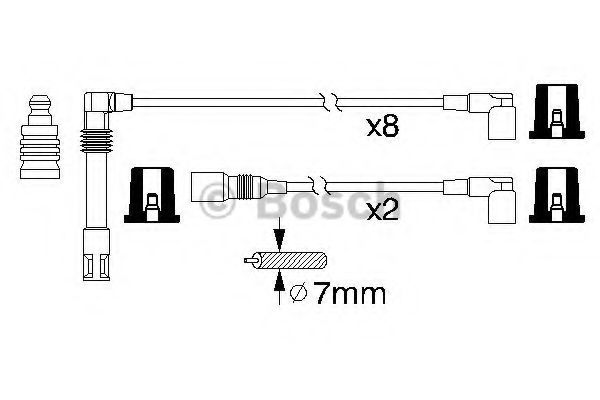 0 986 356 319 Ignition System Ignition Cable Kit