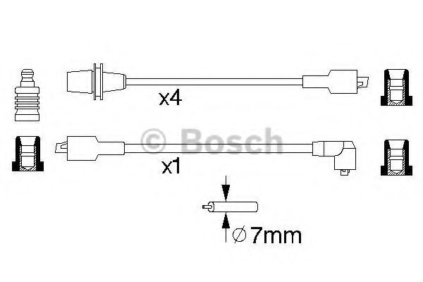 0 986 356 725 Ignition Cable Kit