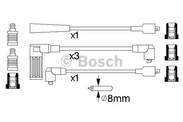 0 986 356 737 Ignition System Ignition Cable Kit