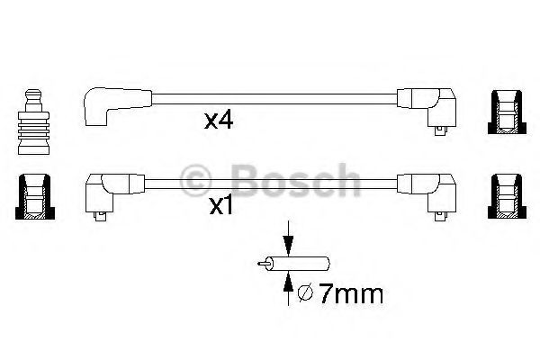 0 986 356 865 Ignition System Ignition Cable Kit
