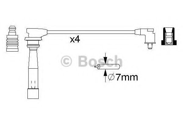0 986 356 982 Ignition Cable Kit