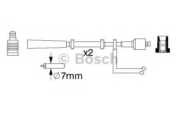 0 986 357 080 Ignition Cable Kit