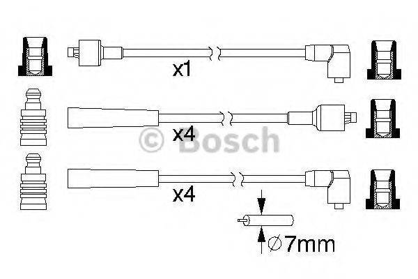 0 986 357 104 Ignition System Ignition Cable Kit