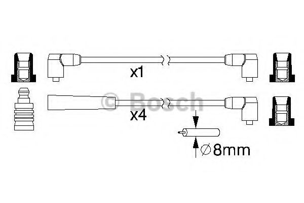 0 986 357 116 Ignition Cable Kit