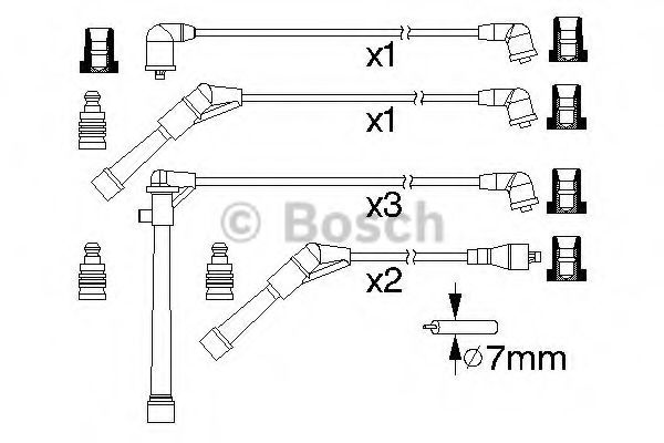 0 986 357 174 Ignition System Ignition Cable Kit
