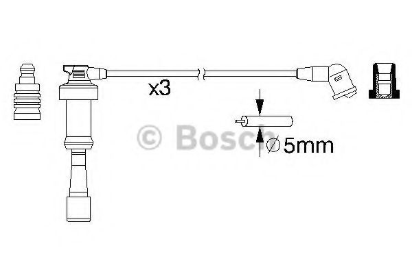 0 986 357 207 Ignition System Ignition Cable Kit