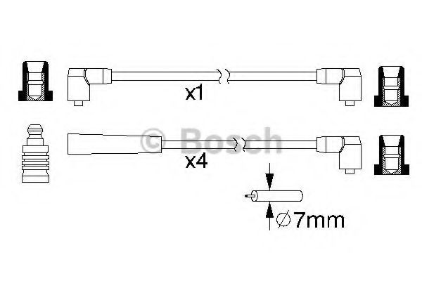 0 986 357 216 Ignition System Ignition Cable Kit