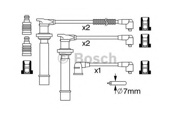 0 986 357 274 Ignition Cable Kit