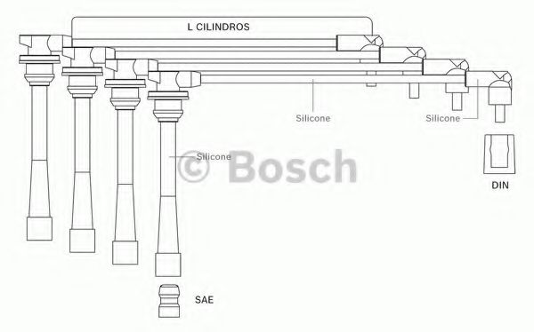 F 000 99C 118 Ignition System Ignition Cable Kit