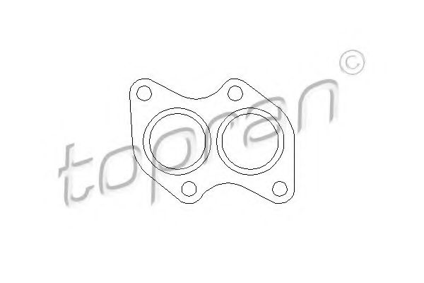 111 595 Gasket, exhaust pipe