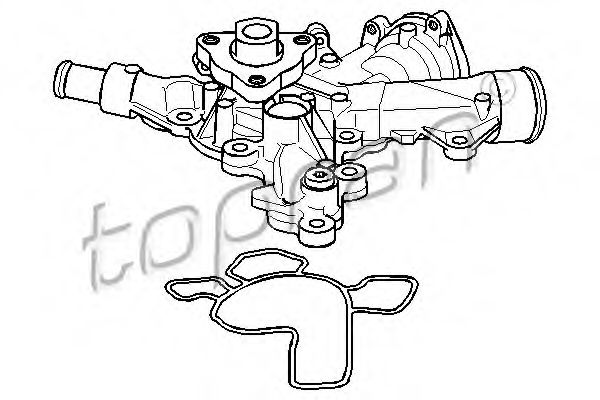 205 705 Cooling System Water Pump