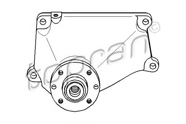 400 913 Cooling System Support, cooling fan