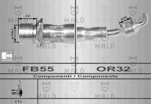 80128 Gasket, exhaust pipe
