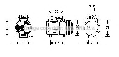 MSK087 Compressor, air conditioning