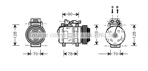 MSK275 Compressor, air conditioning