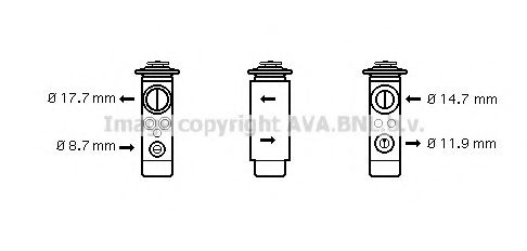 OL1580 Expansion Valve, air conditioning