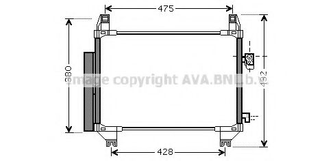 TO5407D Condenser, air conditioning