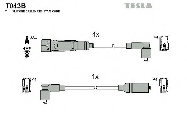T043B Ignition Cable Kit