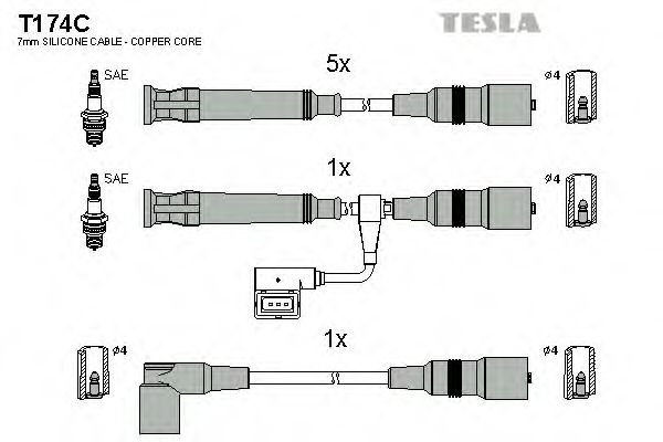 T174C Ignition Cable Kit