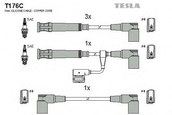 T176C Ignition Cable Kit
