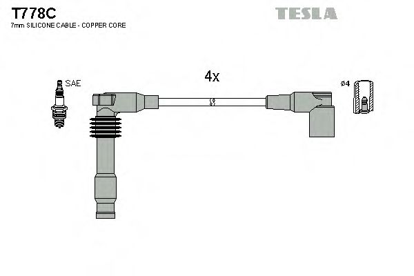 T778C Ignition Cable Kit
