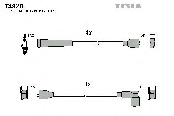 T492B Ignition Cable Kit