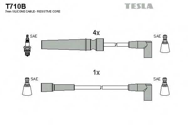 T710B Ignition Cable Kit